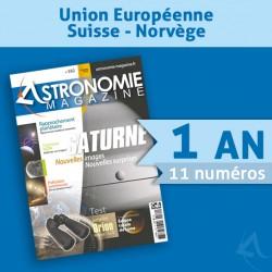 Abonnement 1 an Union Européenne, Suisse et Norvège